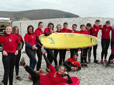 French Summer Camp Abseil, Achill, Co. Mayo
